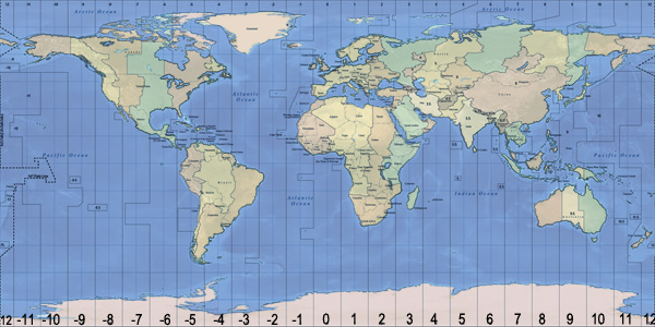Position Of Asia Colombo On World Time Zone Map